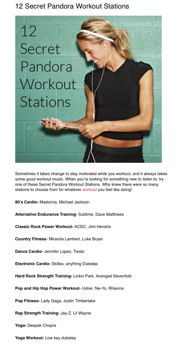 Stations for working out