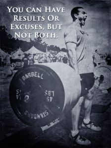 Results VS Excuses