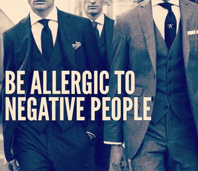 be alergic to negative people