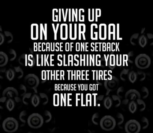 giving up on your goals